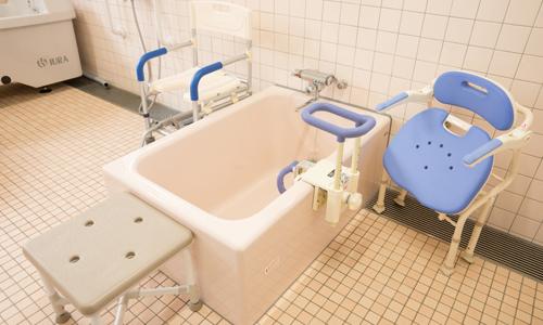 1人で入浴できるタイプ